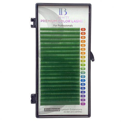 Rzęsy kolorowe I-Beauty zielone